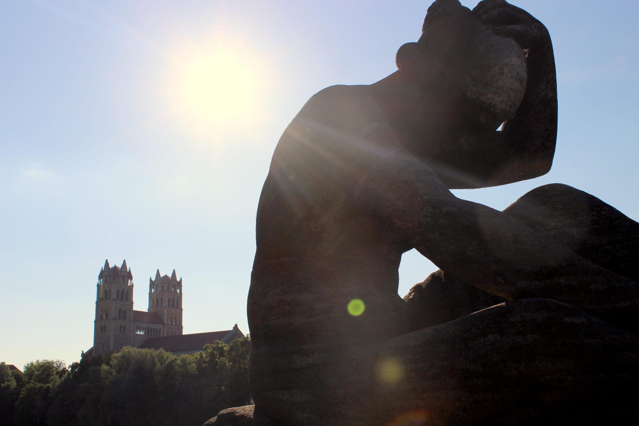 Statue auf der Reichenbachbrücke